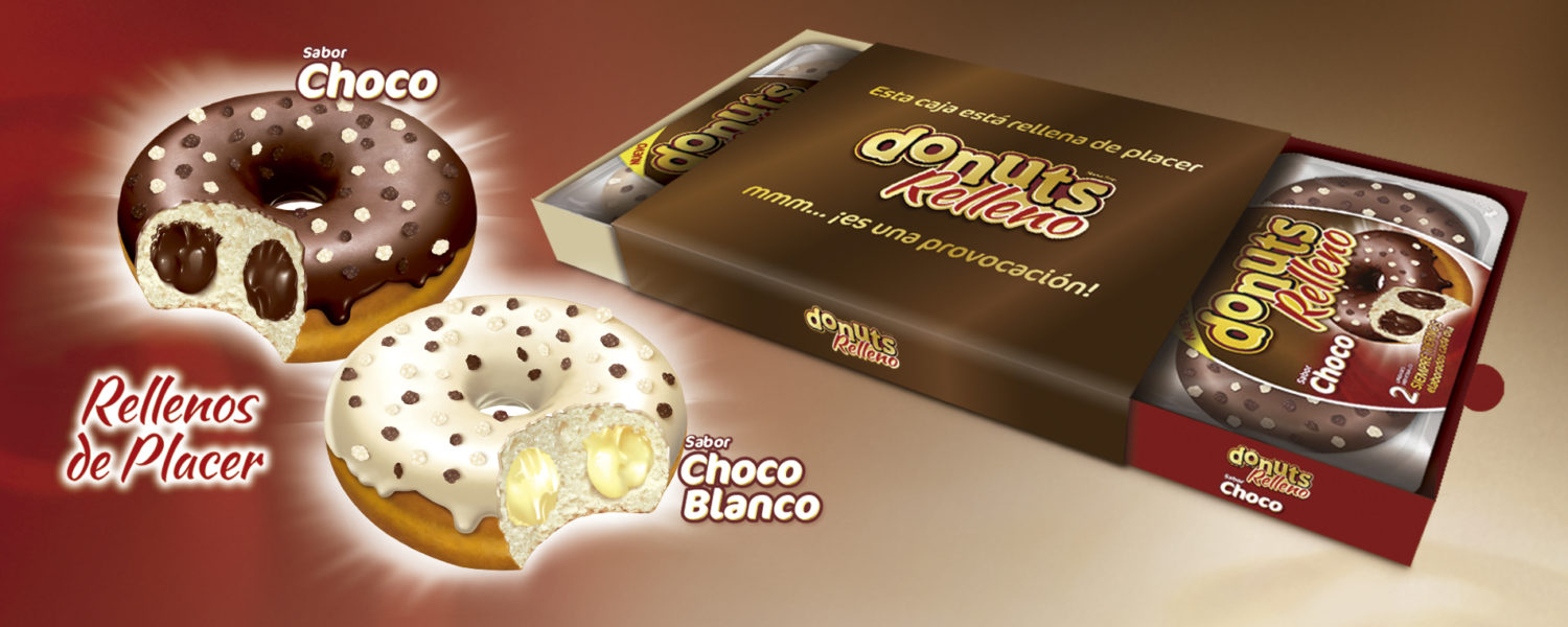 Donuts Relleno packaging